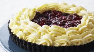 White Chocolate Cranberry Mousse Tart